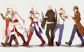 Картинка фон, арт, парни, Assasin's Creed