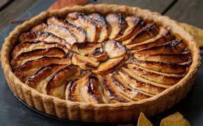 Картинка осень, пирог, фруктовый пирог
