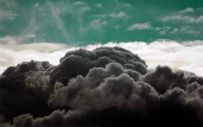 Картинка небо, тучи, темные тучи