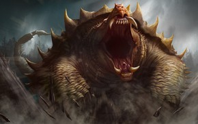 Картинка монстр, динозавр, пасть