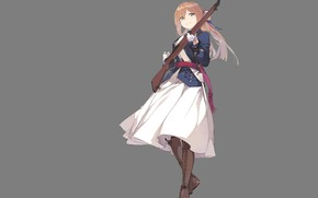 Картинка девушка, оружие, аниме, арт, girls frontline