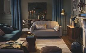 Картинка дизайн, стиль, интерьер, гостиная, столовая, Glamour style