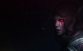 Картинка Charlize Theron, WOW, Blizzard, Art, Шарлиз Терон, World of WarCraft, WarCraft, Сильвана, Sylvanas Windrunner, Fanart, …