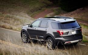 Картинка Ford, SUV, Explorer, на дороге, 2016