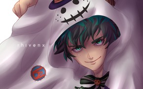 Картинка арт, хеллоуин, Boku no Hero Academia, My Hero Academia, Мидория Изуку, Моя Геройская Академия