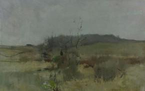 Обои пейзаж, картина, Джон Генри Твахтман, John Henry Twachtman, Зелёный День