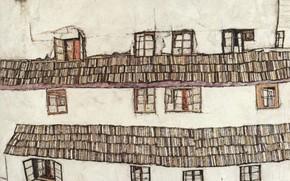 Картинка Окна, 1914, Эгон Шиле, Finestre