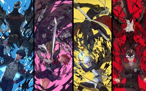 Картинка коллаж, арт, персонажи, персона, Persona 5