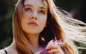 Картинка девушка, ветер, волосы, Максим Грачев