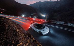Картинка McLaren, суперкар, вид сверху, 2018, Novitec, 720S