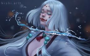 Картинка кровь, заклинание, транс, колдунья, черная магия, by Nishi Hiku