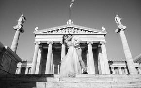 Картинка романтика, танец, объятия, греция, пара влюбленных