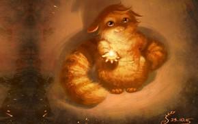 Картинка кошка, кот, настроение, котик, арт, детская, A bit of good, Vera Velichko