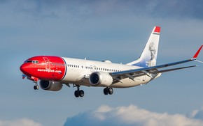 Картинка Boeing, Norwegian Air Shuttle, 737-8