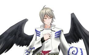 Картинка ангел, арт, парень, Onmyouji, Onmyouji (NetEase), Ootengu