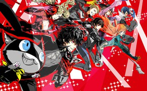 Картинка аниме, арт, персонажи, Persona 5, Персона 5