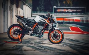 Картинка orange, track, ktm, motocycle, ktm duke, Ktm 890 duke