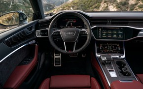 Картинка Audi, интерьер, седан, салон, Audi A6, 2020, Audi S6, US-version
