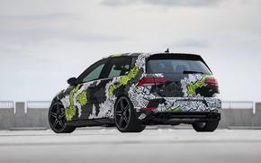 Картинка Volkswagen, вид сзади, Golf, 2018, Golf R, ABT, Abstract Concept
