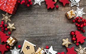 Картинка украшения, Новый Год, Рождество, christmas, wood, merry, decoration, frame