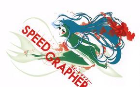 Картинка химера, mermaid, брызги крови, by Yuusuke Kozaki, Speed Grapher, Скоростной графер, Kagura Tennouzu