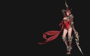 Картинка оружие, воин, фэнтези, арт, Goddess of Dragon, 谢海华 .