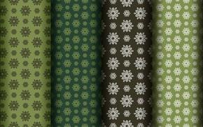 Картинка цветы, зеленый, фон, узор
