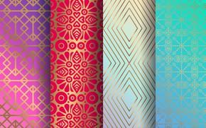 Картинка цветы, узор, геометрия, орнамент, texture, color