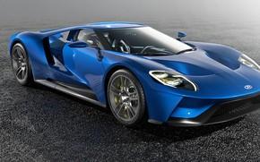 Картинка Ford GT, Спорткар, Второе поколение, среднемоторный спортивный автомобиль