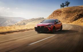 Картинка дорога, красный, Toyota, седан, Avalon, TRD, 2020