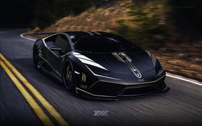 Картинка Авто, Дорога, Черный, Lamborghini, Машина, Auto, Black, Machine, Road, Матовый, Huracan, Lamborghini Huracan, Transport & …