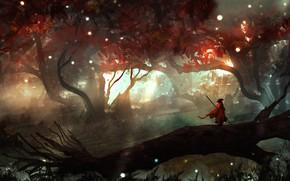 Картинка Человек, Лес, Пейзаж, Арт, Фантастика, Landscapes, Digital Art, TacoSauceNinja, by TacoSauceNinja, You Won't Remember