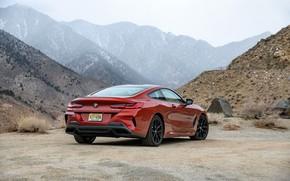 Картинка горы, купе, BMW, 2018, 8-Series, 2019, тёмно-оранжевый, M850i xDrive, 8er, G15