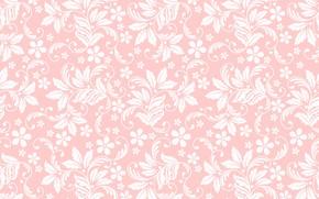 Картинка текстура, розовый фон, цветочный орнамент, бесшовный