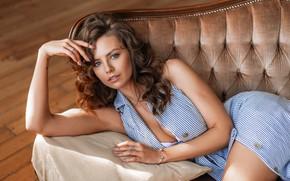 Картинка взгляд, девушка, поза, руки, Полина Стрелец, фотограф Галина Анферова