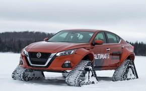 Картинка зима, Concept, Nissan, гусеницы, AWD, Altima-te