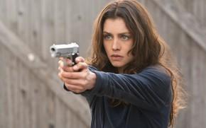 Картинка взгляд, поза, оружие, Хитмэн: Агент 47, Hitman: Agent 47, Hannah Ware, Ханна Уэр, Катя ван …