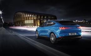 Картинка свет, ночь, Mustang, Ford, внедорожник, Ford Mustang, SUV, 2021, Mach-E GT