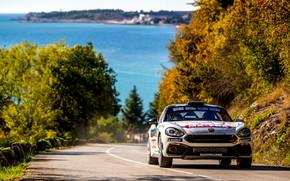Картинка асфальт, деревья, ралли, 2018, Abarth, 124 Rally
