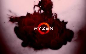Картинка красный, фон, сгусток, логотип, AMD, Кукуруза, Рязань, Ryzen, RYZEN, Ряженка