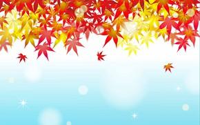 Картинка листья, открытка, шаблон, заготовка