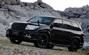 Картинка Toyota, Toyota Land Cruiser 200, Vehicle, Black Bison, Modified, Black Bison Edition, Land Cruiser 200, …