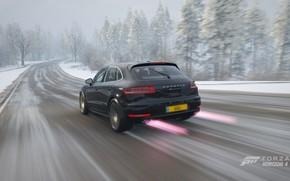 Картинка Porsche, Winter, Racing, Macan, Macan Turbo, Forza Horizon 4, Porsche Macan Turbo