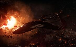 Картинка космос, игра, космический корабль, Star Citizen