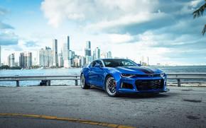 Картинка Chevrolet, Camaro, Sky, Blue, Sight