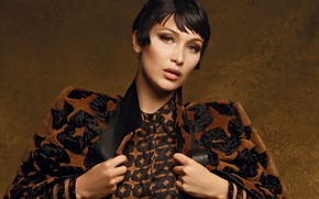 Картинка модель, парик, Bella Hadid