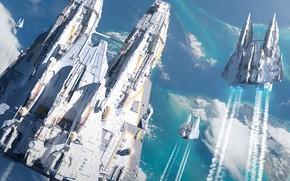 Картинка Звездолеты, Raphael Lacoste, Starships