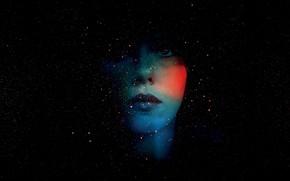 Картинка космос, лицо, призрак