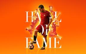 Картинка legend, player, wallpaper, football, sport, AS Roma, Hall of Fame, Francesco Totti