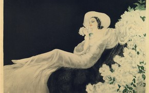 Картинка 1937, Louis Icart, Цветы любви